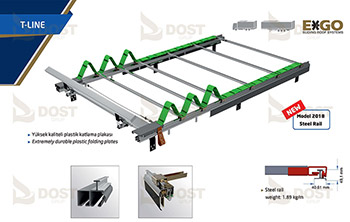 EXGO Kayar Çatı Sistemi - T-line
